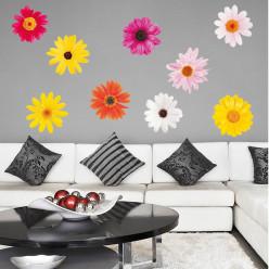 Kit 9 Stickers Fleur