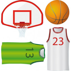 kit Stickers accessoires basketball
