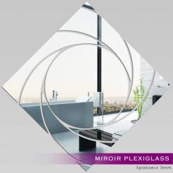 Miroir Plexiglass Acrylique -  Carré Spirales