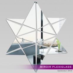 Miroir Plexiglass Acrylique - Etoile Mosaïque