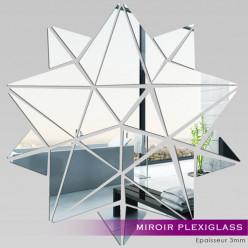 Miroir Plexiglass Acrylique - Etoiles Mosaïque