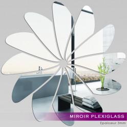 Miroir Plexiglass Acrylique - Fleur 1