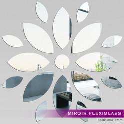 Miroir Plexiglass Acrylique - Fleur