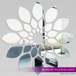 Miroir Plexiglass Acrylique - Fleur 2
