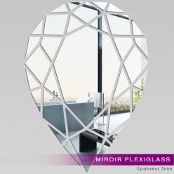 Miroir Plexiglass Acrylique - Goutte Mosaïque