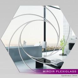 Miroir Plexiglass Acrylique - Hexagone Spirales 1