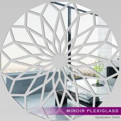 Miroir Plexiglass Acrylique - Mosaïque en Fleur