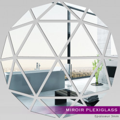 Miroir Plexiglass Acrylique - Mosaïque en Triangles