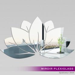 Miroir Plexiglass Acrylique -  Nénuphar 2