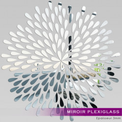 Miroir Plexiglass Acrylique - Pétales