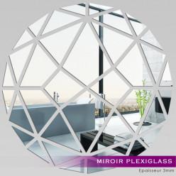 Miroir Plexiglass Acrylique - Rond Mosaïque 1