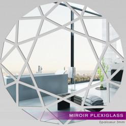 Miroir Plexiglass Acrylique - Rond Mosaïque
