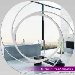 Miroir Plexiglass Acrylique - Spirales Design 1