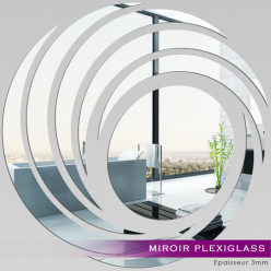 Miroir Plexiglass Acrylique - Spirales Design