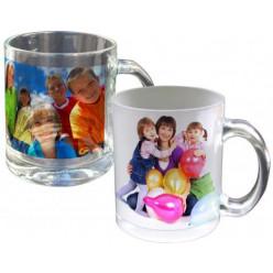 Mug en verre translucide