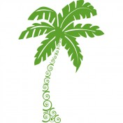 Sticker palmier vert anis 57x82 cm