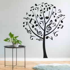 Stickers arbre musical