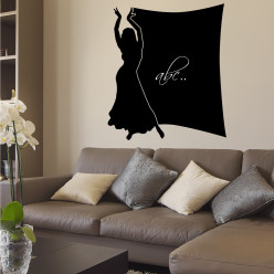 Stickers ardoise danseuse