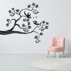 Stickers branche d'oiseaux