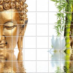 Stickers carrelage bouddha bambou