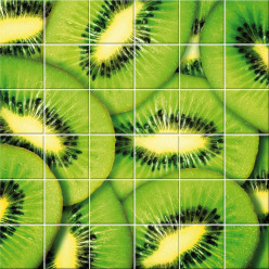 Stickers carrelage kiwi