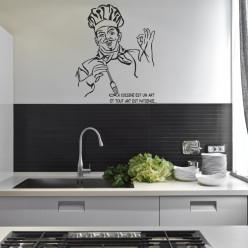Stickers citation chef cuisine
