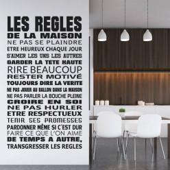 Stickers citation Les Regles De La Maison