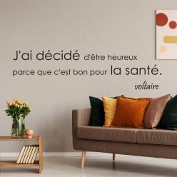 Stickers citation Voltaire
