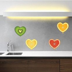 Stickers coeurs fruits