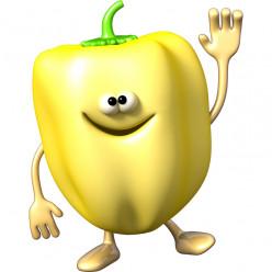 Stickers effet 3D- Poivron jaune