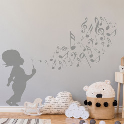Stickers Enfant Musique