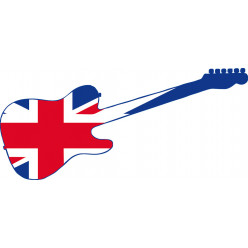 Stickers guitare united kingdom