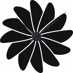 (Stickers Horloge fleur
