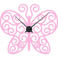 Stickers Horloge papillon