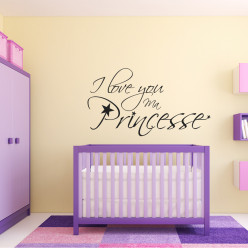Stickers i love you princesse
