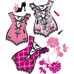 Stickers kit 3 corsets