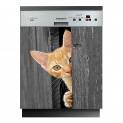 Stickers lave vaisselle chaton