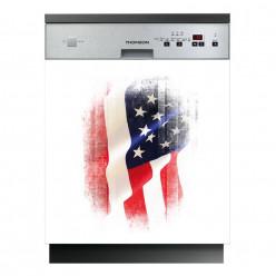 Stickers lave vaisselle drapeau usa