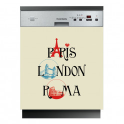 Stickers lave vaisselle Paris London