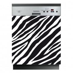 Stickers lave vaisselle zèbre