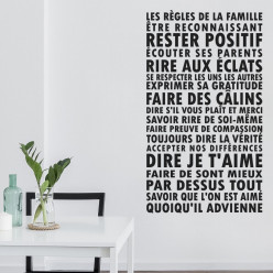 Stickers Les Règles de la Famille