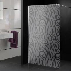 Stickers paroi de douche dépoli design 2