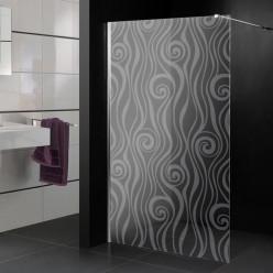 Stickers paroi de douche dépoli design 3