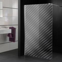 Stickers paroi de douche dépoli design 4