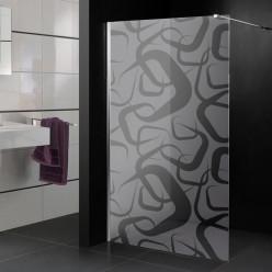 Stickers paroi de douche dépoli design 5