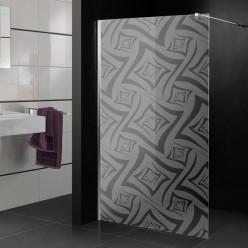Stickers paroi de douche dépoli formes
