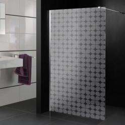 Stickers paroi de douche dépoli formes design