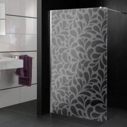 Stickers paroi de douche dépoli gouttes design