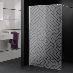 Stickers paroi de douche dépoli labyrinthe