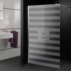 Stickers paroi de douche dépoli marin